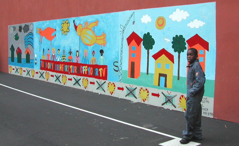 Caterina bertolotto miscellaneous murals for Elementary school mural
